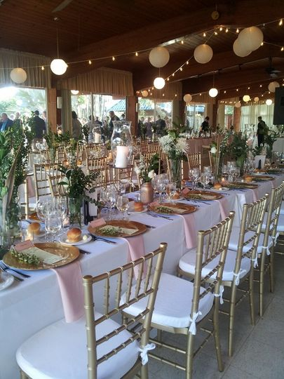 Sarasota Garden Club Chic and Elegant in Gold, Pink, White....