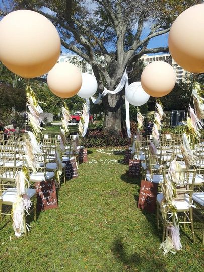 Ceremony on the Lawn at Sarasota Garden Club