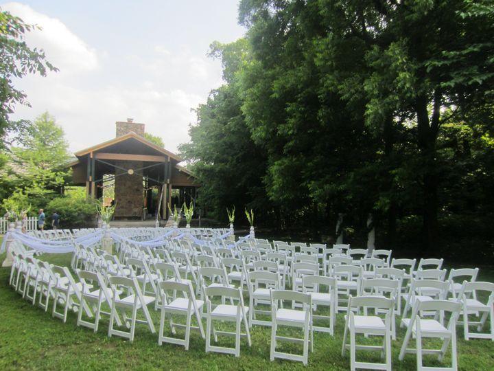 White chair setup