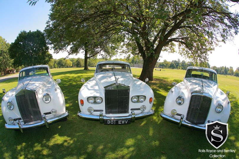 1960 Rolls Royce Silver Cloud II - Left 1964 Rolls Royce Silver Cloud III - Center 1962 Bentley S2 -...