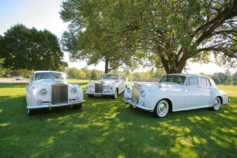 1960 rolls royce silver cloud ii - left1964 rolls royce silver cloud iii - center1962 bentley s2 -...
