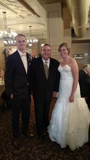 Occasionally, the happy newlyweds like to get a picture with their DJ!