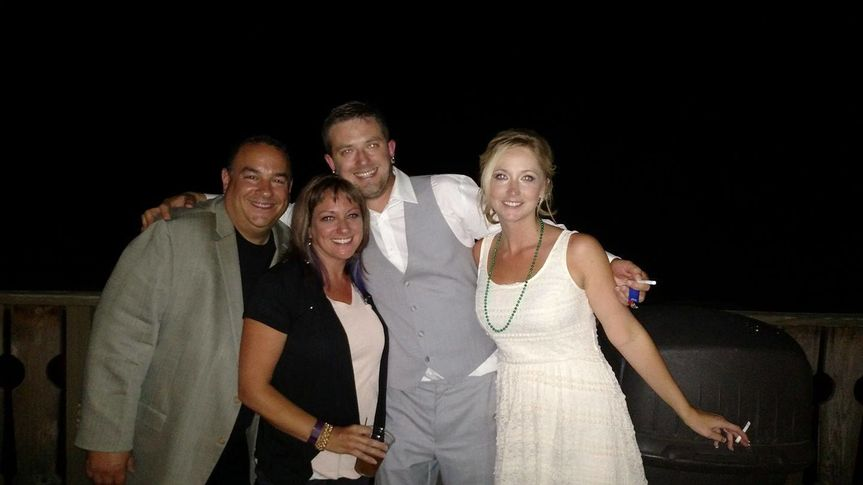 Here's me with my good friend and wedding planner Shanna Stapleton, and a happy couple on the...