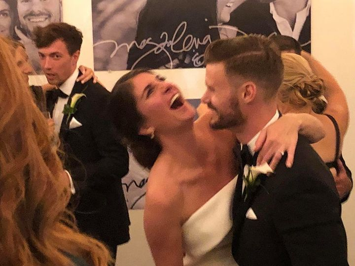 A classic wedding moment right here