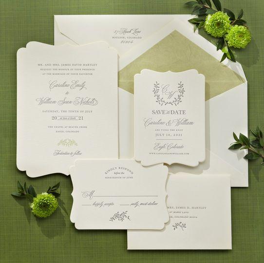 Die cut Letra Paper Suite