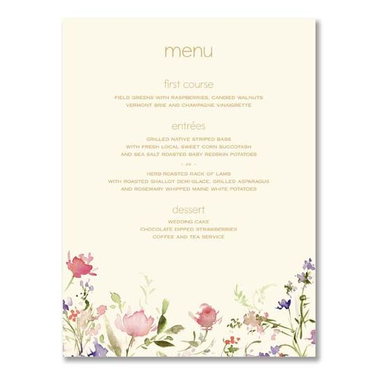 William arthur- floral menu ca