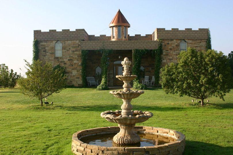 Fountain outside the castle