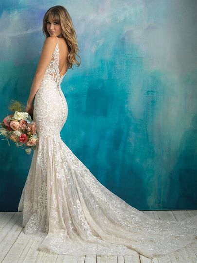 Full lace dress with low back