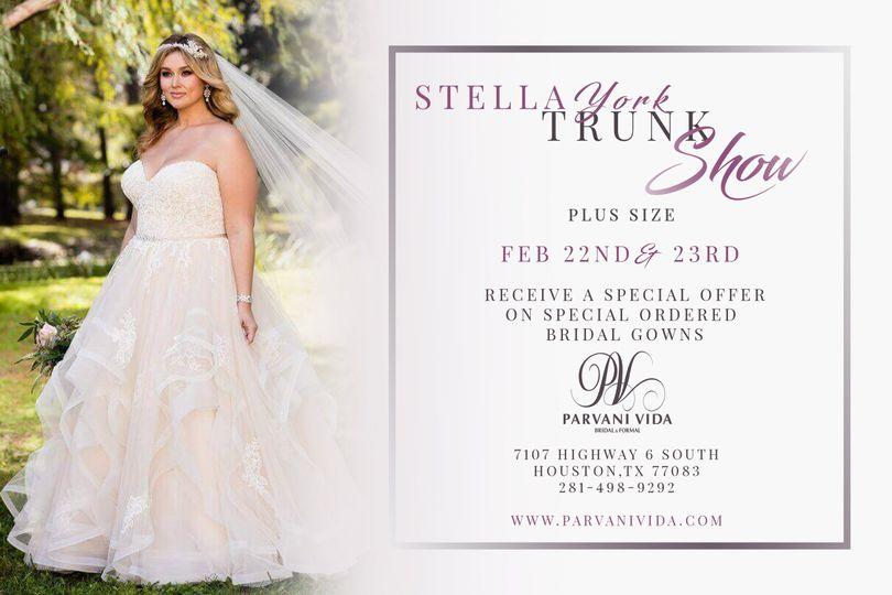 24f049f649 Follow Parvani Vida Bridal   Formal on. Wedding Vendors Houston Wedding  Dresses Houston. Stella York Trunk Show