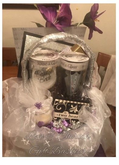 Wedding Gift Basket Select from many colors Custom order
