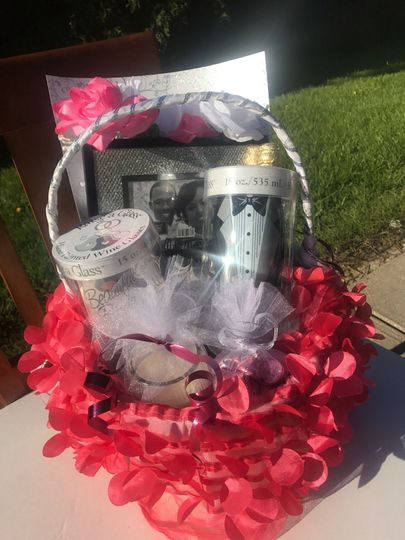 Wedding day gift basket Custom order