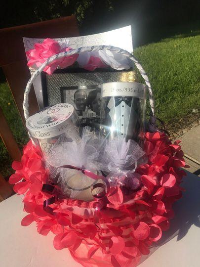Wedding day gift basketCustom order