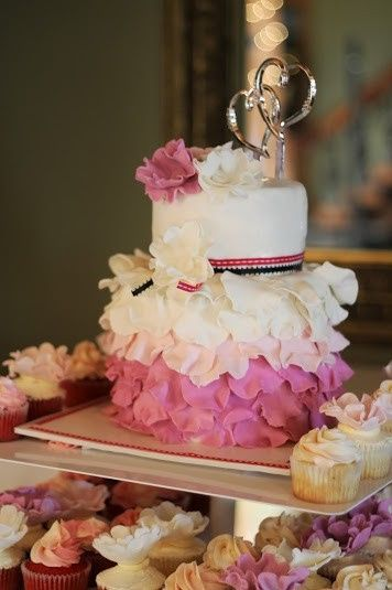 wedding ruffled pink