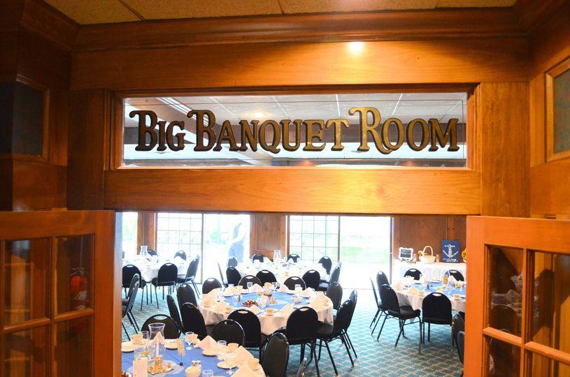 Big Banquet Room signage