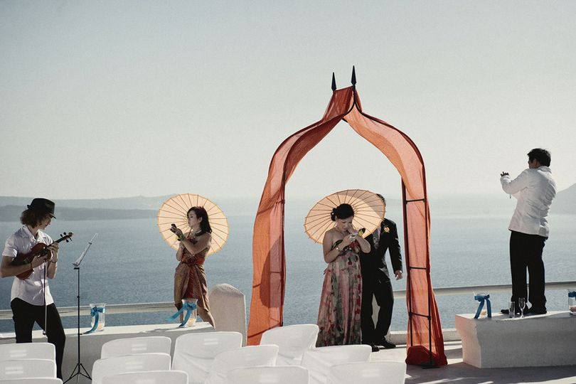 Wedding in Santorini Greece