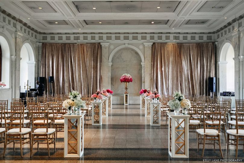Wedding venue setup