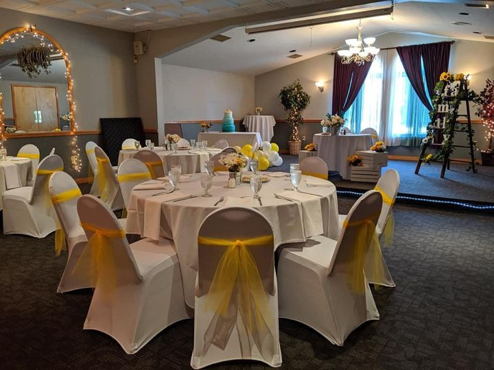 Chair covers and ribbon