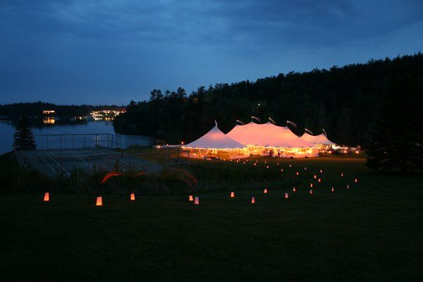 Evening lights to the tent