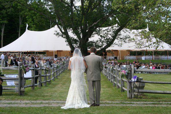 Escorting the bride