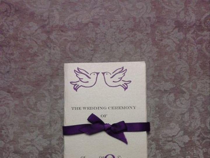 Tmx 1320352110290 Trifoldprogramwribbon Baton Rouge, LA wedding invitation