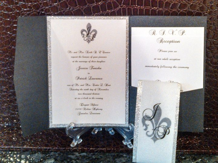 Tmx 1396033631608 Bling Pocketfol Baton Rouge, LA wedding invitation