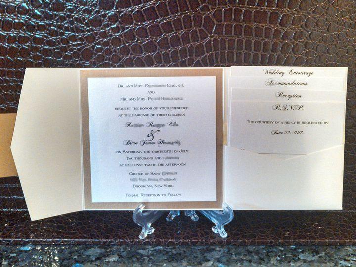 Tmx 1396033799439 Katrian And Brian Redacte Baton Rouge, LA wedding invitation