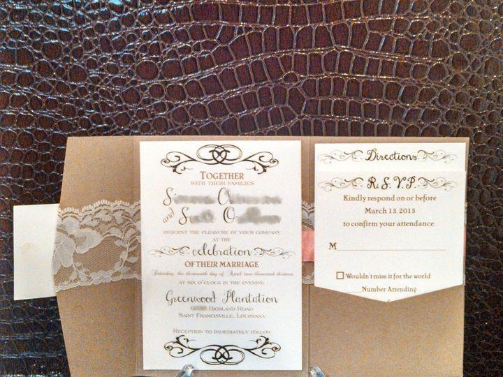 Tmx 1396033842833 Simone And Scott Redacte Baton Rouge, LA wedding invitation