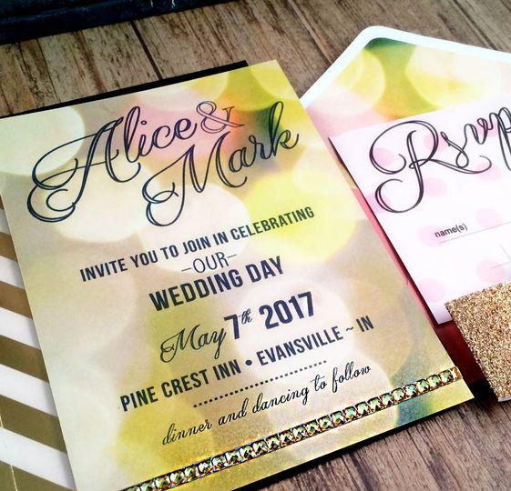 Bokeh themed invitation