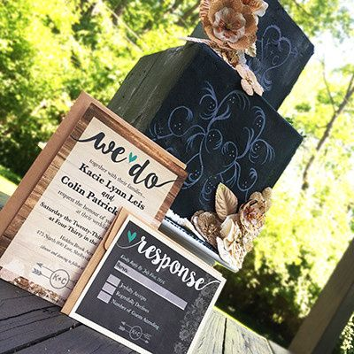 Tmx 1463678794646 Chalkboard Cake Indianapolis wedding invitation