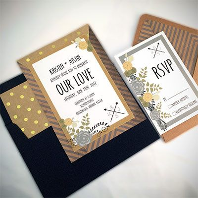 Tmx 1464362445479 Gold Navy Set Indianapolis wedding invitation