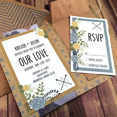 Tmx 1464362451955 Retro Blue Gold Indianapolis wedding invitation