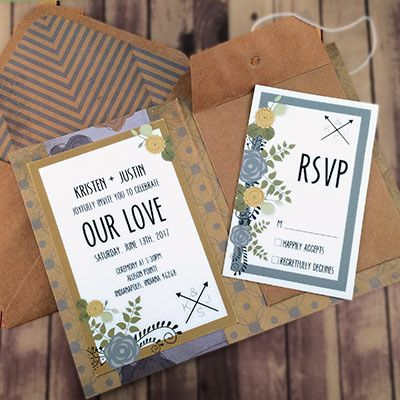 Tmx 1464362456514 Retro Blue Gold2 Indianapolis wedding invitation