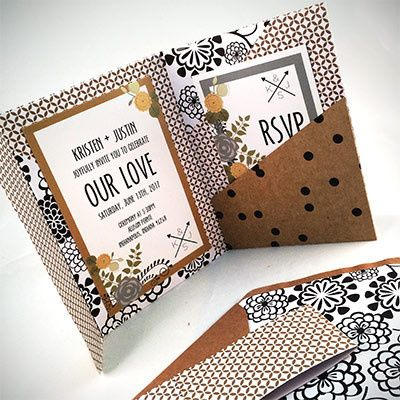 Tmx 1464362460982 Tan Black White Indianapolis wedding invitation