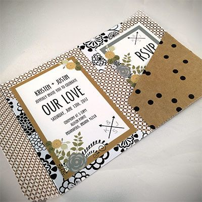 Tmx 1464362467028 Tan Black White2 Indianapolis wedding invitation