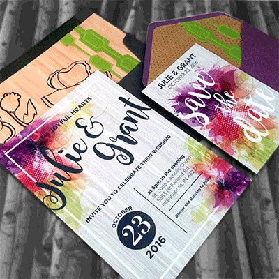 Tmx 1465439391371 Colorful Purple Lime2 Indianapolis wedding invitation