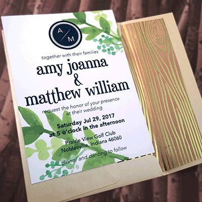 Tmx 1465439406093 Greenery Navy3 Indianapolis wedding invitation