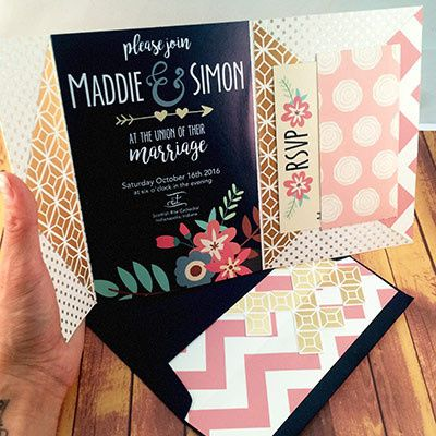 Tmx 1465439420903 Navy Pink1 Indianapolis wedding invitation