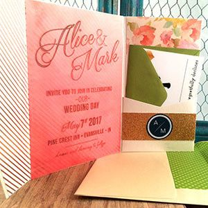 Tmx 1473535187895 Coral Floral Pocket 2 Copy Indianapolis wedding invitation