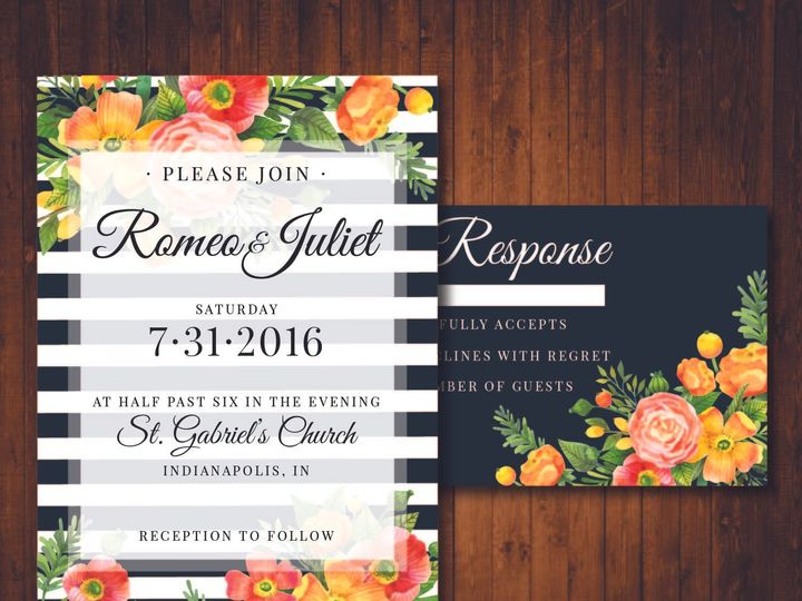 Tmx 1481214285831 Black And White Indianapolis wedding invitation