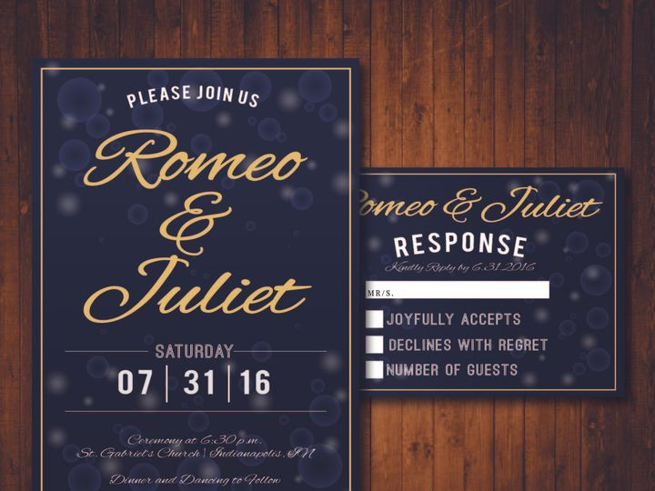 Tmx 1481214285992 Black Champagne Indianapolis wedding invitation