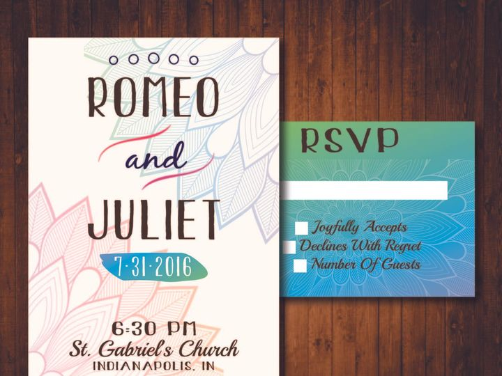 Tmx 1481214305306 Bohemian Indianapolis wedding invitation