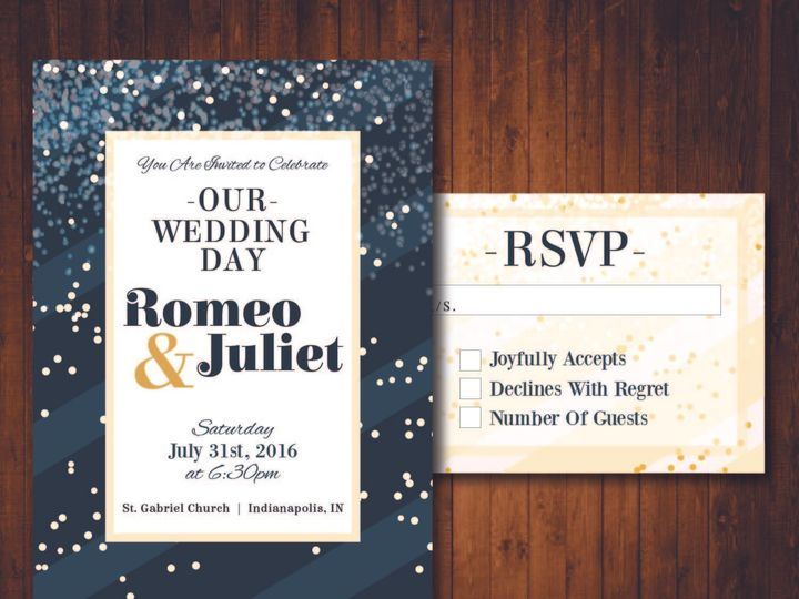 Tmx 1481214322247 Confetti 01 Indianapolis wedding invitation