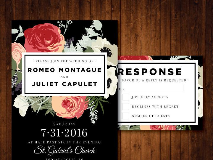 Tmx 1481214382720 Vintage Romantic Indianapolis wedding invitation