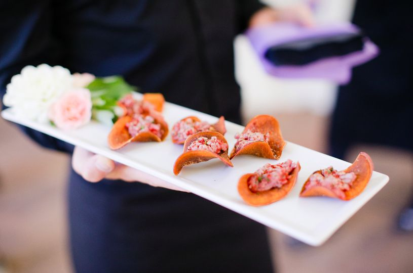 eco caters organic wedding food