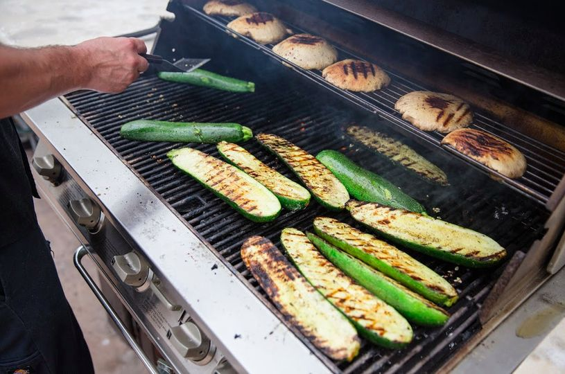 grilling organic food from eco caters