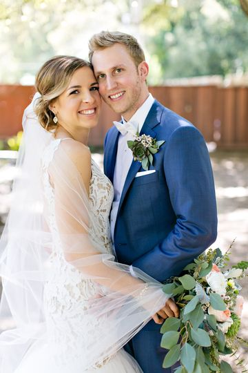 Portrait of the newlyweds