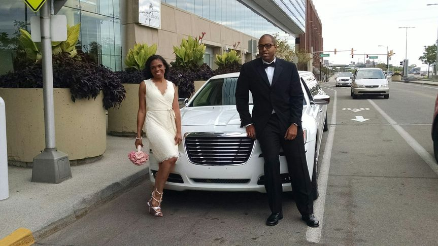 Near the limo