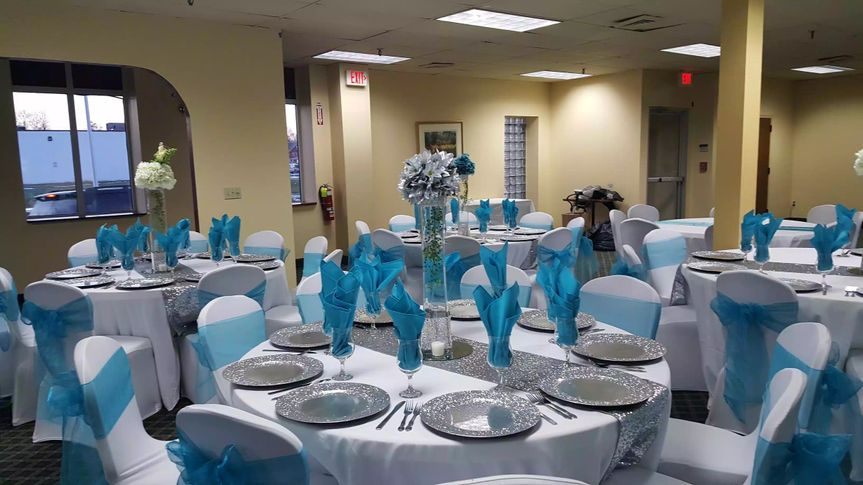 Reception table set-up
