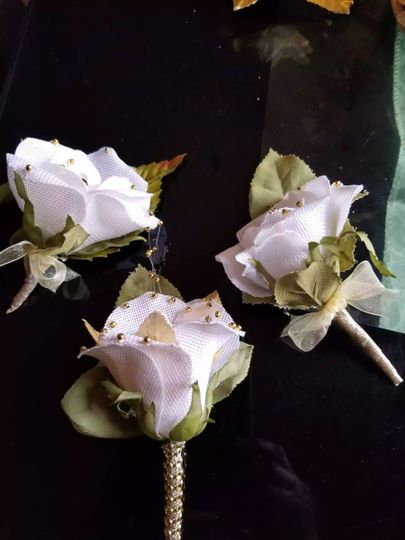 Sample corsages
