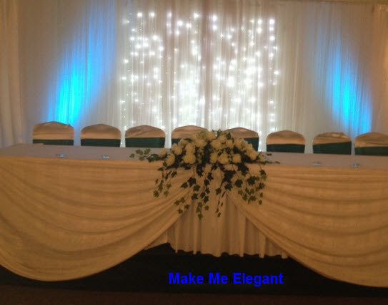 We carry LED light panels to spice up your backdrop or ballroom.